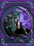 ANNE STOKES - NAIAD - PURPLE FAIRY POSTCARD 6'' X 4''